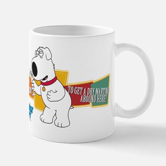 Family Guy Brian Martini Mug