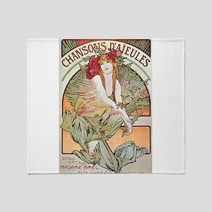 CHANSONS D'AIEULES, C.1898 Throw Blanket