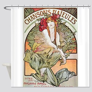 CHANSONS D'AIEULES, C.1898 Shower Curtain