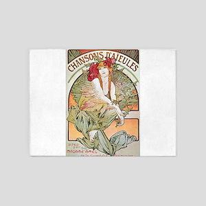 CHANSONS D'AIEULES, C.1898 5'x7'Area Rug