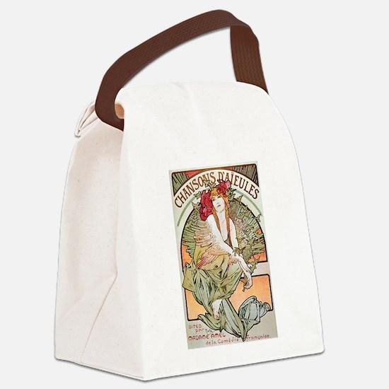 CHANSONS D'AIEULES, C.1898.JPG Canvas Lunch Bag