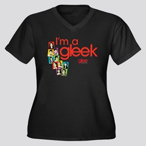Glee Photos Women's Plus Size V-Neck Dark T-Shirt