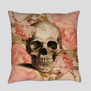 Vintage Rosa Skull Collage Master Pillow