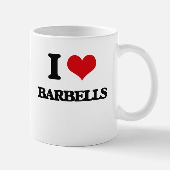 I Love Barbells Mugs