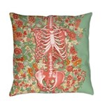 Skeleton Floral Master Pillow