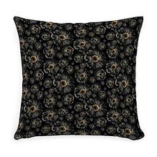 Gothic Black Daisy Pattern Master Pillow
