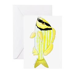Porkfish Greeting Cards