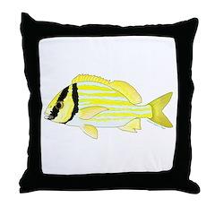 Porkfish Throw Pillow