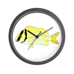 Porkfish Wall Clock
