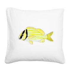 Porkfish Square Canvas Pillow