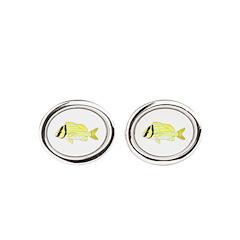 Porkfish Oval Cufflinks