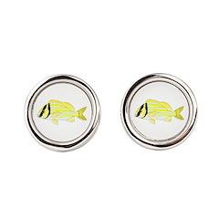 Porkfish Round Cufflinks