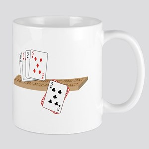 Cribbage Hand Mugs
