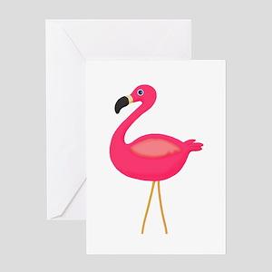 Pink Flamingo 3 Greeting Cards