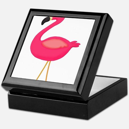 Pink Flamingo 3 Keepsake Box