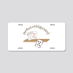 Perfect Cribbage Hand Aluminum License Plate