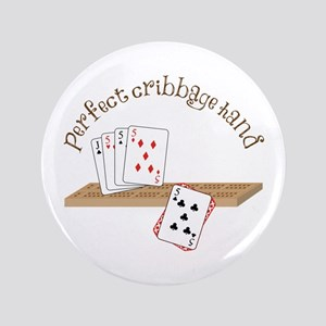 "Perfect Cribbage Hand 3.5"" Button"