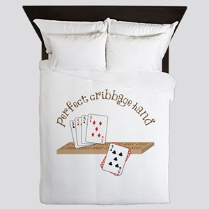 Perfect Cribbage Hand Queen Duvet