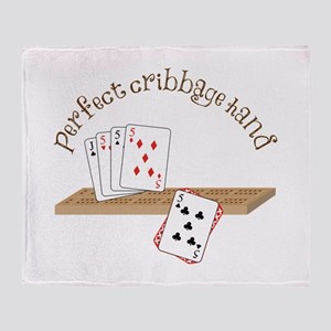 Perfect Cribbage Hand Throw Blanket