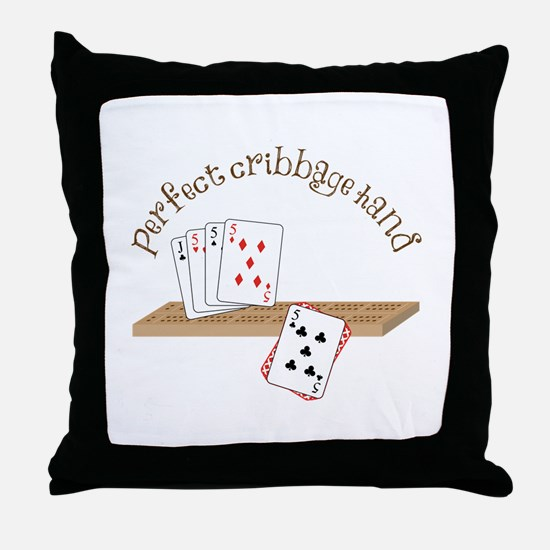 Perfect Cribbage Hand Throw Pillow