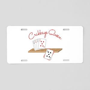 Cribbage Queen Aluminum License Plate
