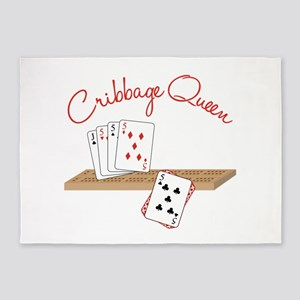 Cribbage Queen 5'x7'Area Rug