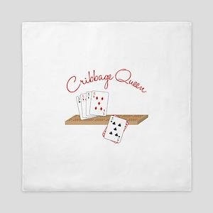 Cribbage Queen Queen Duvet