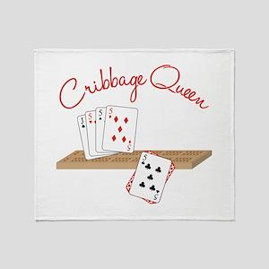 Cribbage Queen Throw Blanket