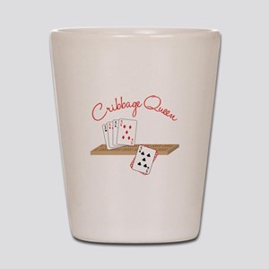 Cribbage Queen Shot Glass