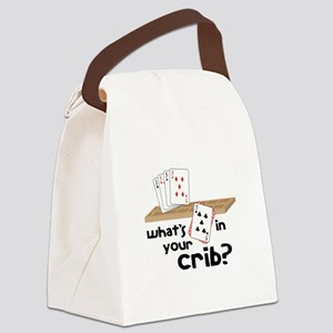 Whats in Your Crib? Canvas Lunch Bag