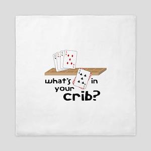 Whats in Your Crib? Queen Duvet