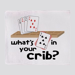 Whats in Your Crib? Throw Blanket