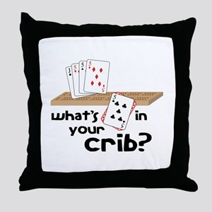 Whats in Your Crib? Throw Pillow