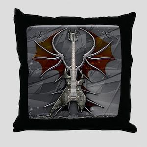 Metal Guitar by Bluesax Throw Pillow