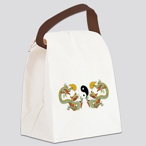 10xyingyangdragons Canvas Lunch Bag