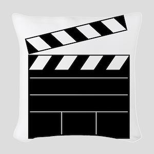 Lights Camera Action Woven Throw Pillow