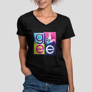 Glee El Women's V-Neck Dark T-Shirt