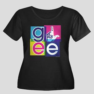 Glee El Women's Plus Size Scoop Neck Dark T-Shirt