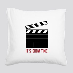 Show Time Square Canvas Pillow