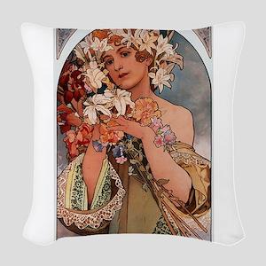 FLOWER_1897 Woven Throw Pillow