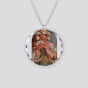 FLOWER_1897 Necklace Circle Charm