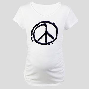 10peacesignthin Maternity T-Shirt