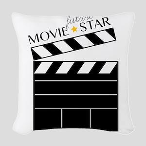 Future Movie Star Woven Throw Pillow