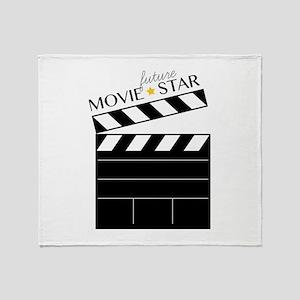 Future Movie Star Throw Blanket