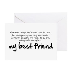 Best friend greeting cards cafepress m4hsunfo