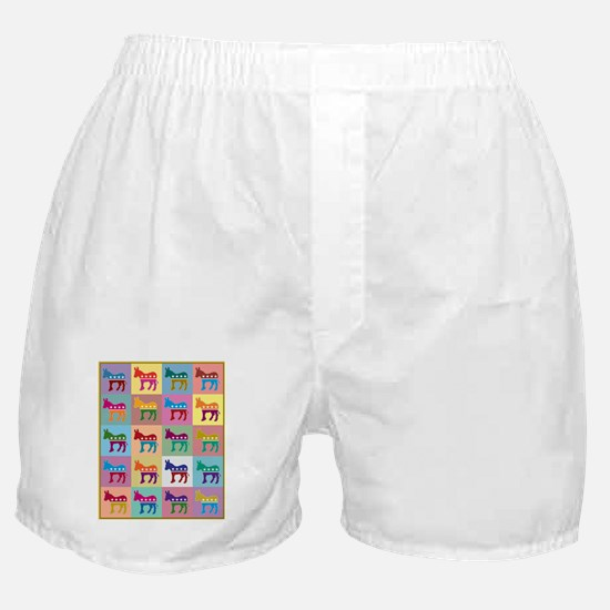 Pop Art Democrat Donkey Logo Boxer Shorts