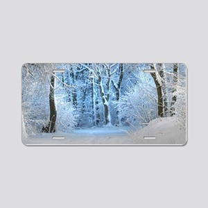 Another Winter Wonderland Aluminum License Plate