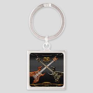 Fantastic Guitars by Bluesax Square Keychain