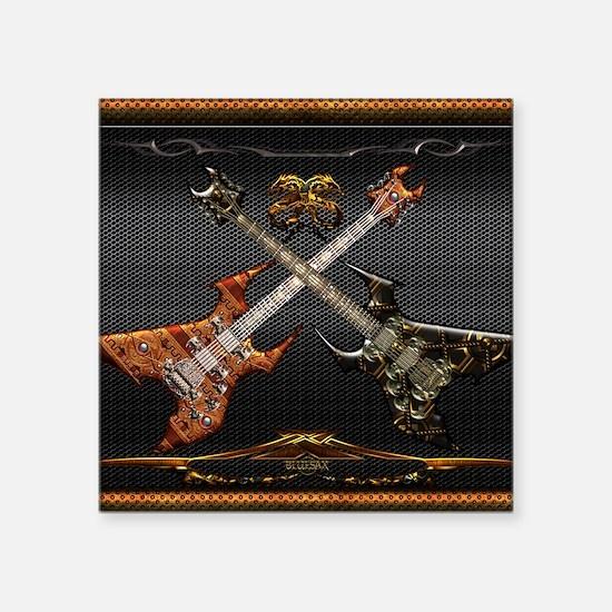 "Fantastic Guitars by Bluesa Square Sticker 3"" x 3"""
