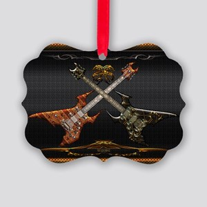 Fantastic Guitars by Bluesax Picture Ornament